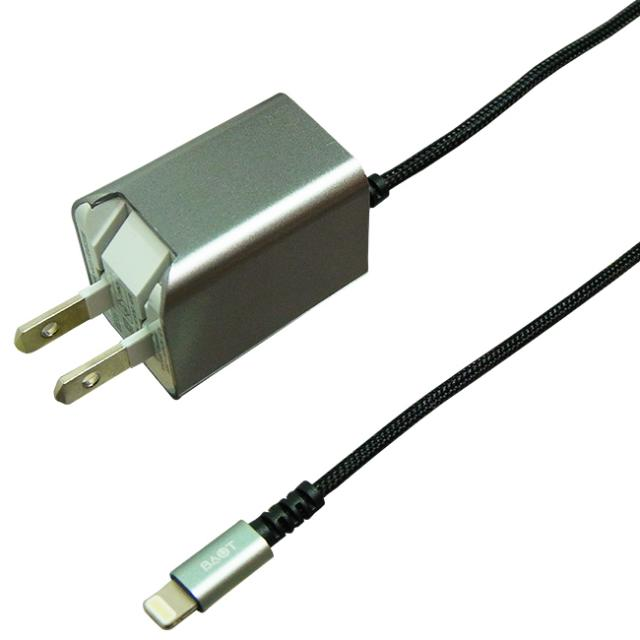 PREMIUM AC Charger Lightning Hard Cable  1.5m 2.4A